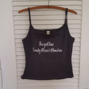 Milk Drunk Clothing Tops - This Girl Loves Country Music & Moonshine Tank Top